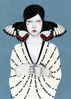 Butterfly girls, illustration by Sofia Bonati - Ego - AlterEgo Art And Illustration, Illustrations, Butterfly Illustration, Art Pop, Painting Inspiration, Art Inspo, Sofia Bonati, Posca Marker, Desenho Pop Art