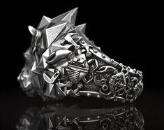#gyűrű #ring #ezüstékszer #egyediékszer #egyediajándék #masterpiece #lion #mechanical #biomechanical .. na kinek ismerős..? www.ekszercenter.hu
