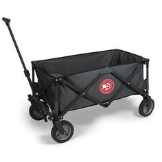 Picnic Time Atlanta Hawks Adventure Folding Utility Wagon, Grey