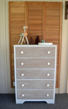 Faux Weathered Dresser {Themed Furniture Makeover} MyCreativeDays.com