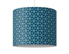 Hänge#lampe Würfelmuster blau #Flur #Gestaltung #Diele #Ideen #Dekoration #Schöner #Wohnen