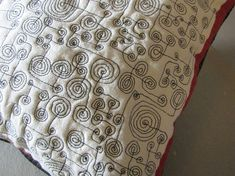 spiral meander again this time infabric - Journal - paula kovarik