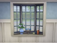 Basic Bay Window Slots by plasticbox at -- select a Sites -- via Sims 4 Updates