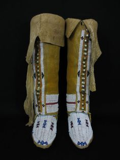 Cheyenne Indian Hightop Moccasins