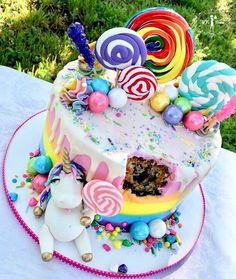 Fat unicorn cake!