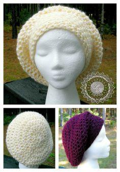 Incredibly Simple Slouchy Hat - Free Pattern Incredibly Simple Slouchy Free hat pattern by ELK Studio Crochet Adult Hat, Bonnet Crochet, Crochet Slouchy Hat, Knit Or Crochet, Crochet Scarves, Crochet Crafts, Crochet Projects, Free Crochet, Knitted Hats