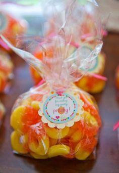 peach party decorations: peach party favors