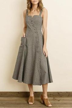214c7dec966 Olivia Stripe Midi Dress Sustainable Fabrics