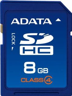Card de memorie ADATA SDHC 8GB Secure Digital Card