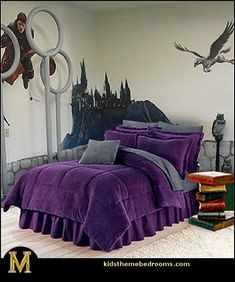 Harry Potter Bed room Adorning Concepts For my future youngster... sorry not sorry. lo...