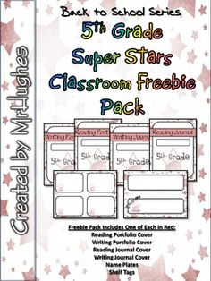 Back-to-School freebie pack let's you sample what you will get in the full Grade Super Stars Classroom Pack. One full set of radiant red! Stars Classroom, 5th Grade Classroom, Classroom Freebies, School Classroom, Classroom Ideas, Classroom Labels, Future Classroom, Classroom Activities, New School Year