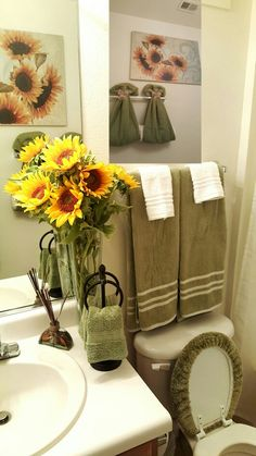 My Sunflower Theme Bathroom