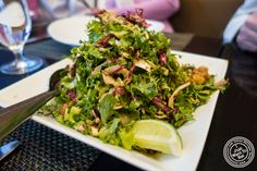 Crackling calamari salad at China Grill in NYC, New York