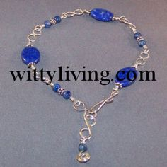 Several beading and wire DIY at Wittyliving.com  eg.  Wire wrapped bracelet lapis bead project
