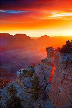 See a sunrise or sunset at the Grand Canyon. Sunrise from Yaki Point on the South Rim of Grand Canyon National Park. Grand Canyon Sunset, Grand Canyon National Park, National Parks, Grand National, Arizona Road Trip, Parque Nacional Do Grand Canyon, Places To Travel, Places To See, Landscape Photography