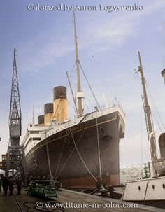RMS Olympic at Southampton, in 1929