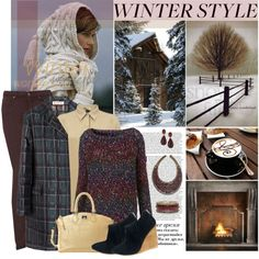My Winter Style, created by designsbytraci on Polyvore-actually the outfit is my least favorite part, but the rest is so what I love in winter !