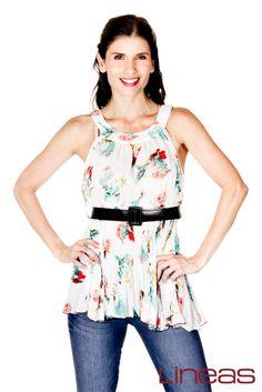 Blusa. Modelo 17944. Precio $210 MXN. Pantalón. Modelo 18314. Precio. $240 MXN. #Lineas #outfit #moda #tendencias #2014 #ropa #prendas #estilo #moda #primavera #outfits