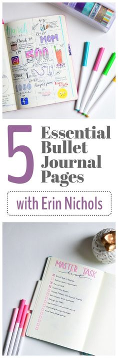 There are a million spreads and collections that you can add to your bullet journal, but Erin of The Petite Planner explains perfectly why these five spreads are truly essential bullet journal pages.