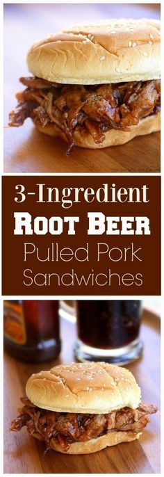 3-Ingredient Root Beer Pulled Pork - great for feeding a crowd. http://the-girl-who-ate-everything.com