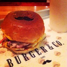 mustache burger from Burger & Co.  ADDRESS: No. 49, Tong An St., Daan District | 台北市大安區通安街49號 PHONE: 02 2784 0182 TIME: 11:30~9:30