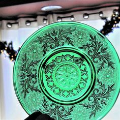 Excited to share the latest addition to my #etsy shop: Vintage Emerald Green Glass Sandwich Plate, Vintage Anchor Hocking Green Pressed Glass Dessert Plate Sherbet Plate, Christmas cookie plate http://etsy.me/2iZR29I #housewares #green #housewarming #christmas #glass #