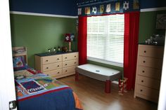 Sports Curtains For Boys | Big Boy Sports Room , A big boy room for my 4 year old sports fanatic ...