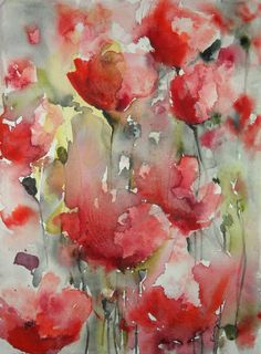 "Saatchi Art Artist Karin Johannesson; Painting, ""Poppy Field V"" #art"
