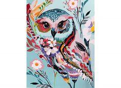 Раскраска по номерам «Совушка» Старлы Мишель Картины по номерам, paint by numbers, купить картину по номерам, новый сюжет, дизайн, своими руками