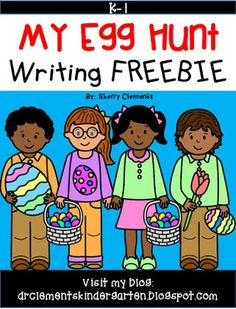 My Egg Hunt Writing Activity- adding details to writing! kindergarten and first grade writing First Grade Freebies, Kindergarten Freebies, Classroom Freebies, Kindergarten Literacy, Classroom Ideas, Teaching Activities, Teaching Resources, Cute Writing, Writing Resources