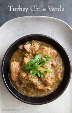 Turkey Chile Verde ~ Chile verde made with turkey thigh meat and ...