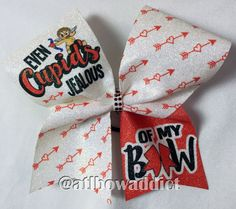 Cheer Bow Valentine's Day Cheer Bow by AtlBowAddict on Etsy