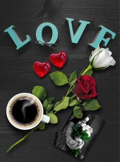 Love hearts flowers and coffee Cool Pictures For Wallpaper, Love Wallpaper, Good Morning Coffee, Good Morning Love, Gif Café, Whisper Love, Coffee Gif, Love Heart Images, Famous Love Quotes