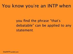 Myers-Briggs Personality Types INTP