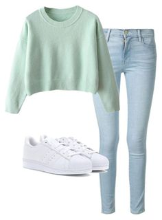 #fall #outfits / Turquoise Long Sleeve + Sneakers