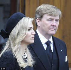 Queen Maxima of Netherlands and King Willem Alexander pay their respects at Prince Richarard's funeral