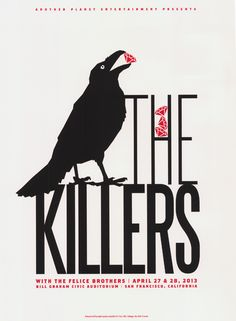 The Killers / The Felice Brothers. Poster design: Dirk Fowler (2013).