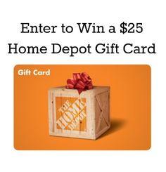 Giveaway! $25 Home Depot Gift Card - Winter Wonders Giveaway Hop