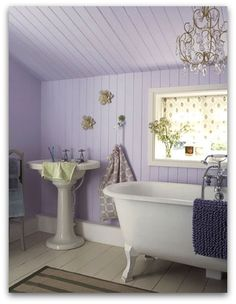 This wall color could be nice w our ugly green bathroom counter upstairs.