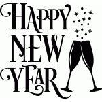 happy new year fancy champagne