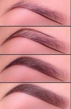 Eyebrows tutorial step by step by Nina Maltese