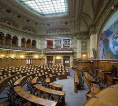 Hall. Swiss Parliament Building, Bern, Switzerland. (Electro-acoustic Design by WSDG)
