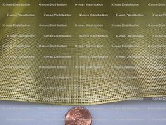 Brass Perforated Sheets, .016 Inch Thick--KMac distribution Kitchen Doors, Metal Mesh, Goods And Services, Brass, Metal Lattice, Kitchen Unit Doors, Rice
