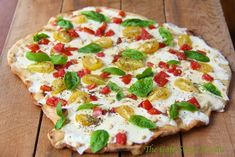 Grilled Pizza Margherita - with a shatteringly crisp, super thin crust this simple pizza is always a winner!