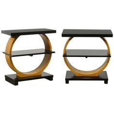 Stunning Pair of Art Deco Side Tables | From a unique collection of antique and modern side tables at http://www.1stdibs.com/furniture/tables/side-tables/