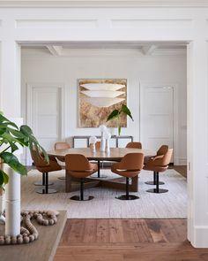Contemporary Dining Room in Bridgehampton, NY by Timothy Godbold