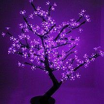 Purple LED Cherry Blossom Tree 168L... Want!!! <3