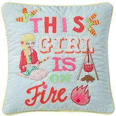 DECOILUZION - Funda de cojín This girls is on fire