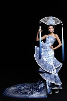 Guo Pei's Collection-blue and white get me every time