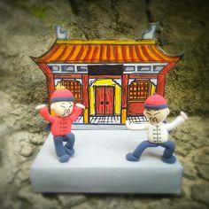 "Paper-clay art _ Peoples around the world #china ""kung fu master"""